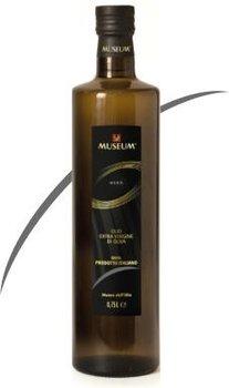 0.5 ltr MUSEUM BLACK label extra vergine olijfolie