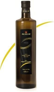 0.5 ltr MUSEUM YELLOW label extra vergine olijfolie
