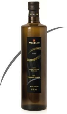 0.25 ltr MUSEUM BLACK label extra vergine olijfolie